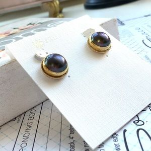 NWT Anna Beck Clip-on large Pearl Earrings